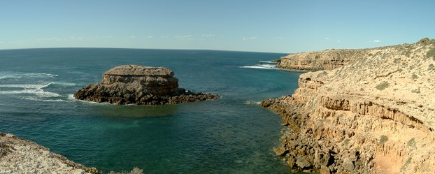 Cape Bauer panorama: named by Matthew Flinders to honor Ferdinand; located on Gibson Peninsula, state of South Australia