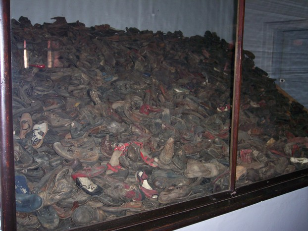 Image: Shoes taken from people at Auschwitz.