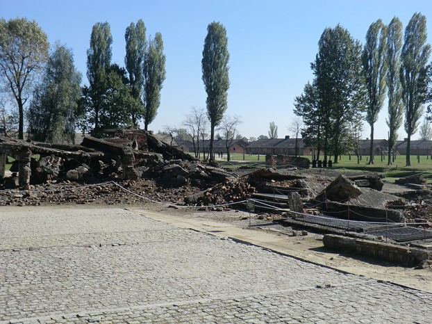 Image: Gas Chamber (Destroyed) at Auschwitz II.