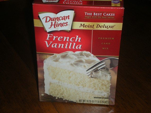 French Vanilla cake mix:  flavorful, fragrant substitute for Apple Dump Cake
