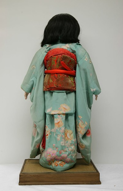 back view of Miss Shimane, Children's Museum of Indianapolis