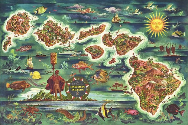The Dole Map of the Hawaiian islands