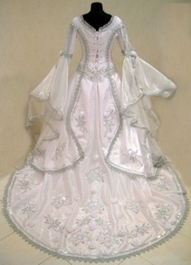 Medieval vintage wedding dress