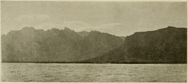 1898 photograph of Hadibu and Haghier Mountains, Socotra Pomegranate Tree's habitat
