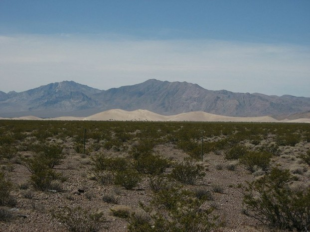 Bare Mountain and Big Dune, Amargosa Valley, Nevada