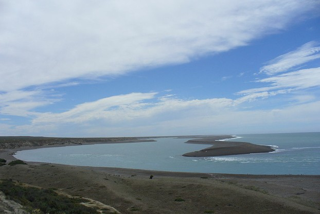 view of Atlantic Ocean from Caleta Valdés, inlet on Valdes Peninsula's east coast, near Punta Norte (northernmost point)