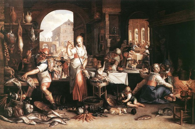 oil on canvas by Joachim Anthonisz Wtewael (Uytewael) (1566-Aug 1, 1638), Staatliche Museen-Berlin