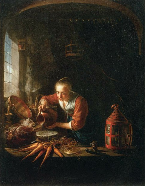 oil on canvas by Gerrit Dou (April 7, 1613-February 9, 1675) ~ Musée du Louvre, Paris