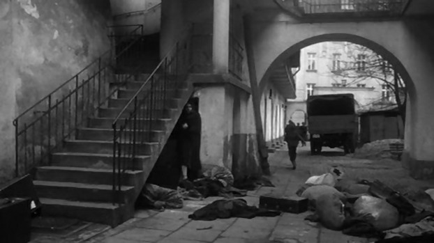 Image: Mrs Dresner Stairs Scene from 'Schindler's List'