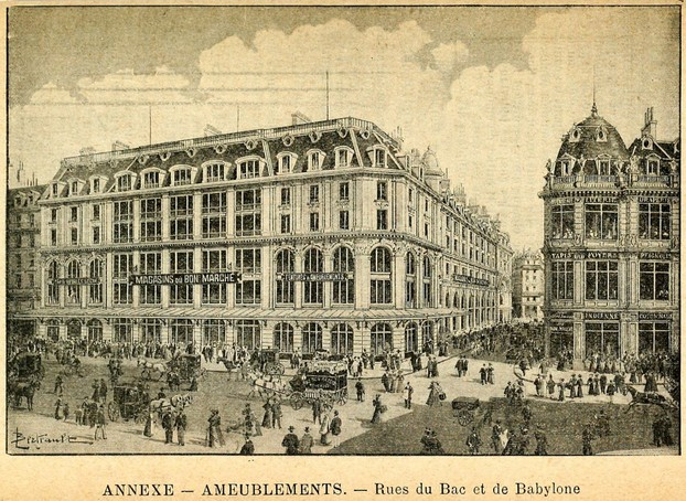 annex and main building of Bon Marché
