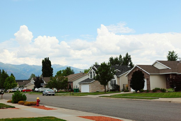 Standard middle-class neighbourhood in Utah