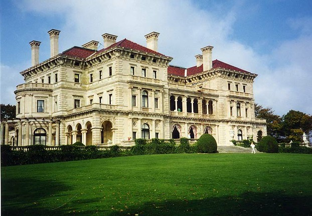 The Breakers (above) was built as a summer home by Cornelius Vanderbilt II at Newport, Rhode Island between 1893 and 1895.