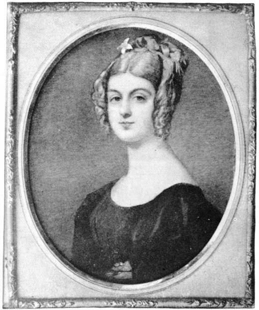 c.1829 miniature painted prior to Georgiana's departure from England as settler in Swan River Colony, Western Australia