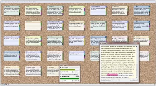 A screenshot of the Scrivener for Windows Writing Software