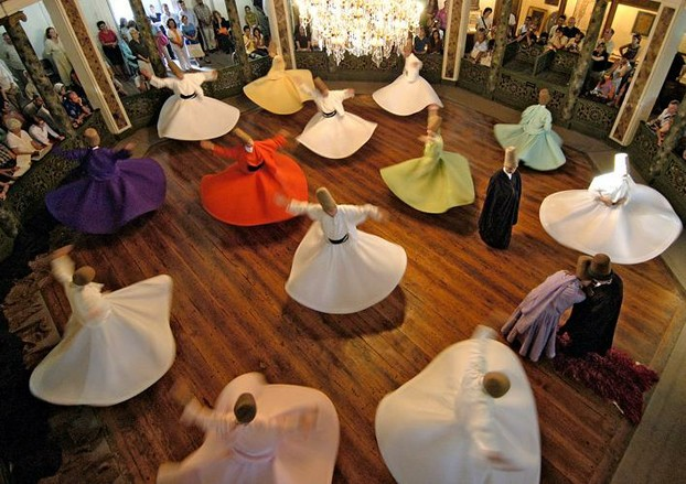 whirling dervishes from Turkey