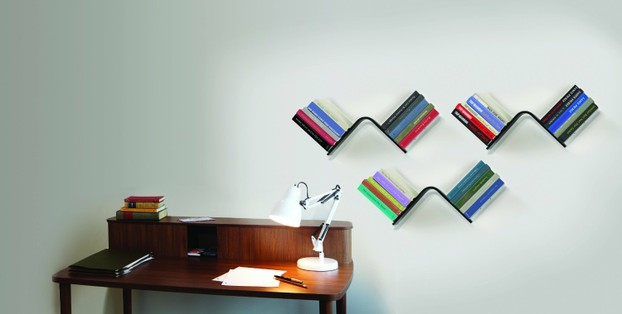 How the Umbra Conceal L-Shaped Floating Bookshelf looks like