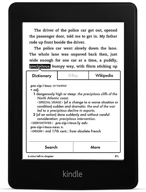 An image of the Kindle Paperwhite 3G Free 3G + Wi-Fi, All-New Paperwhite Display, High Resolution, High Contrast, Next-Gen Built-in Light
