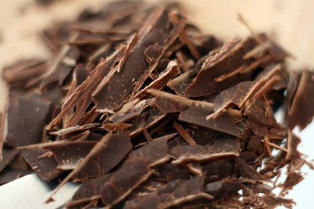 grated dark chocolate