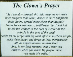 'The Clowns Prayer' in Holy Trinity Church, Dalston
