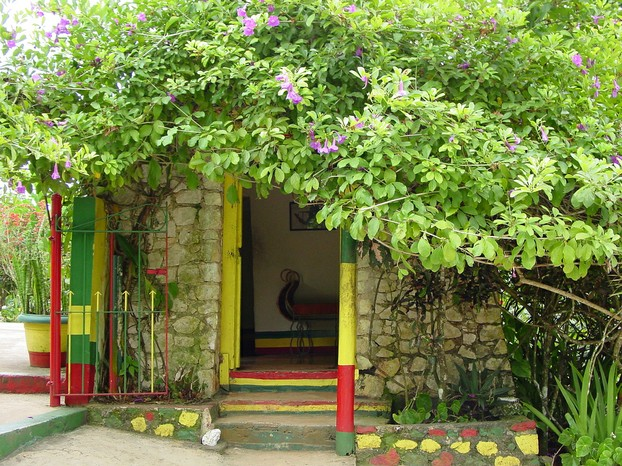 Bob Marley's birthplace: adjacent to his mausoleum, on grounds of museum dedicated to his life and music