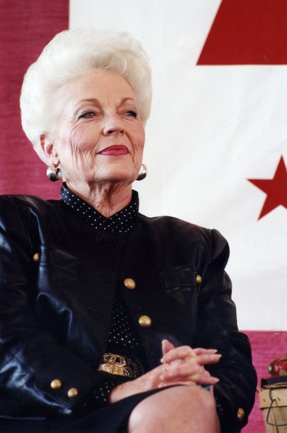 Texas governor Ann Richards in 1992