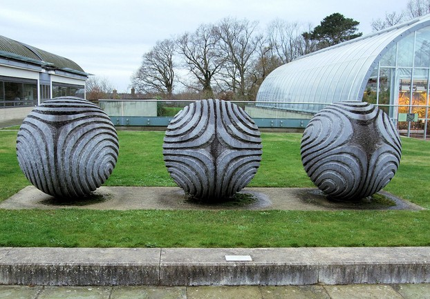 Sculpture symbolising the seed collection stored in Millennium Seed Bank.