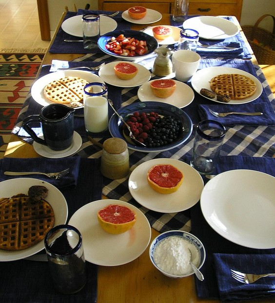 """American Country Breakfast served around Thanksgiving 2006."""