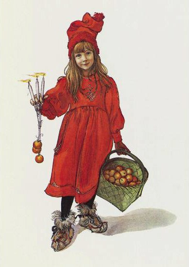 1901 lithograph of Brita Larsson by Swedish artist Carl Larsson (May 28, 1853–January 22, 1919)