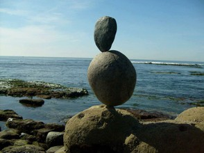 Balance Rock Art At La Jolla Shores