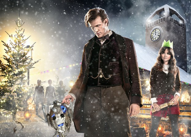 "Matt Smith and Jenna Coleman in ""The Time of the Doctor"""