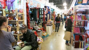 Stores in the Christmas gift fair