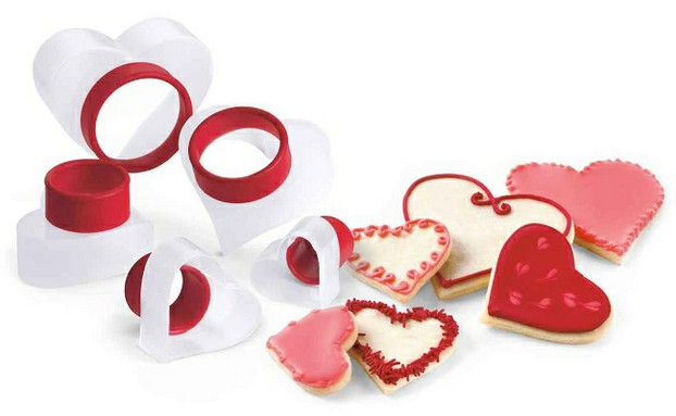 Set of Cute Heart Shaped Cookie Cutters