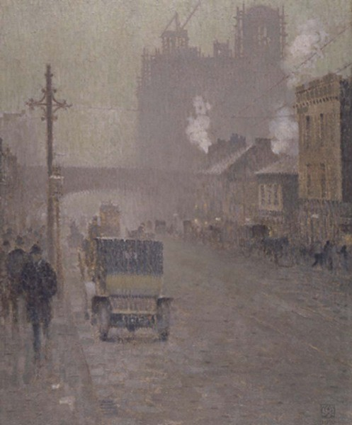 Oxford Road, Manchester by Adolphe Valette