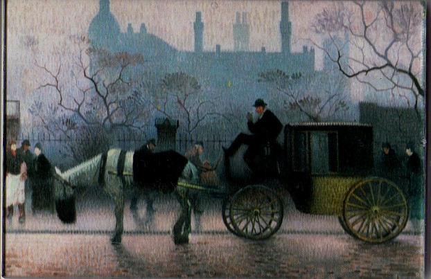 Old Cab at All Saints, Manchester, Adolphe Valette