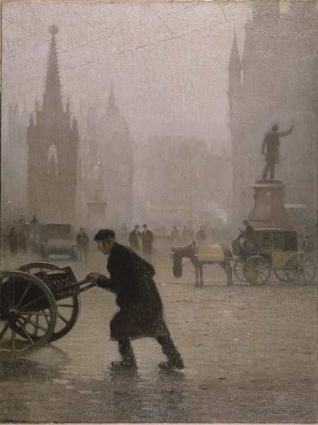 Albert Square, Manchester by Adolphe Valette
