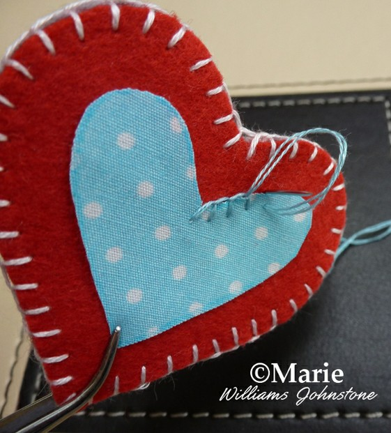 Using Blanket Stitch to Make Cute Felt Hearts