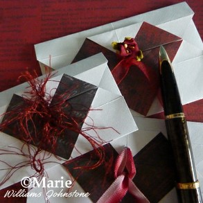 How to make a origami heart envelope for Valentine's Day