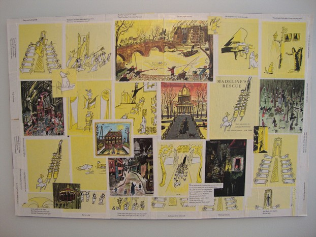 "illustrations from ""Madeline's Rescue"", winner of 1954 Caldecott Medal"
