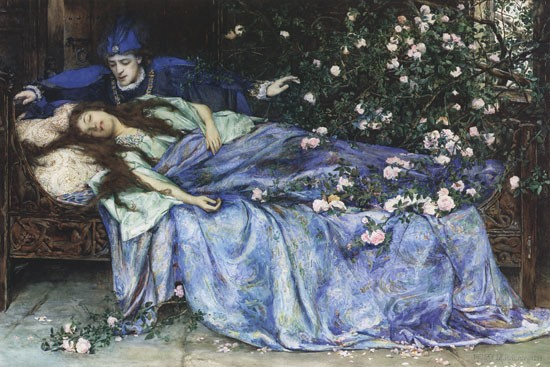 Picture of Sleeping Beauty by Henry Meynell Rheam