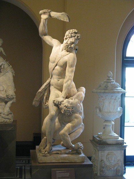 Samson and the Philistine by Giambologna at Victoria and Albert Museum