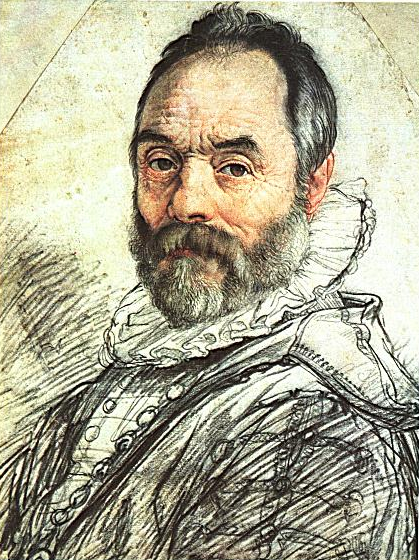 Portrait of Giambologna in 1591 by Hendrik Goltzius