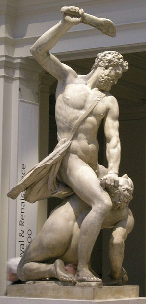 Samson and the Philistine by Giambologna