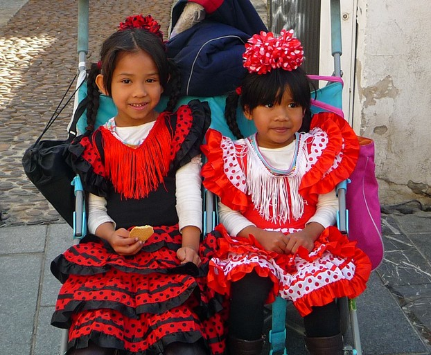 Little Senoritas Dressed for the Parade