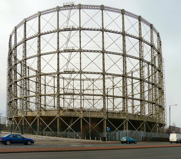 A Beautiful Gasometer in Manchester on Alan Turing Way