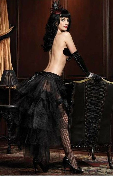 LONG TULLE BUSTLE BURLESQUE SKIRT