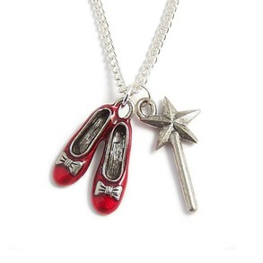 Ruby slippers and Glinda's wand necklace.