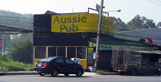 Aussie Pub on the main road through Kamala