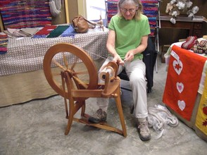 A Woman Spinning Wool in White Springs, Florida