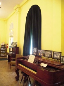 Pianos Inside Stephen Foster Museum in White Springs, Florida