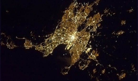 Image: Dublin as seen from the ISS
